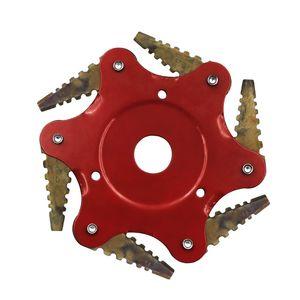 El motor del césped de la lámina 6 cepillarse los dientes Herramientas de jardín cortador eléctrico del condensador de ajuste Desbrozadora de hierba de la máquina Accesorios energéticos Easy Cut