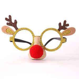 Kuulee 크리스마스 어린이 안경 프레임 앤틀러스 액션 장난감 액션 피규어 눈사람 프레임 산타 클로스 장식의 플라스틱으로 피규어 안경