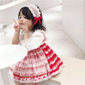 Spain Style Baby Dress Newborn Girls Tutu Dresses Flower Infant Princess Lace Party Dress Costume 2020 Children Clothes S08