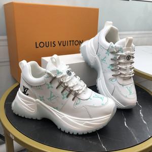sapatos de grife de luxo para homens e mulheres fugir pulso sneakers bezerro impressa sapatos de corrida tênis das mulheres altos-top dos homens plataforma