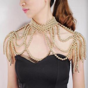 Monili del collare collana Red Pearl Bianco Marca Black Women festa di nozze a mano signore branello della perla dello scialle Capo Girocollo Collana