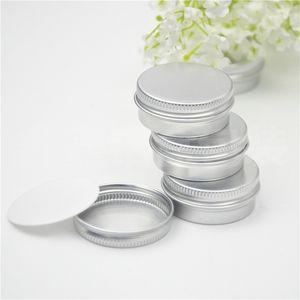 100pcs screw on lids Aluminium jars cream jars with screw lid,cosmetic case jar,15ml aluminum tins, aluminum lip balm container