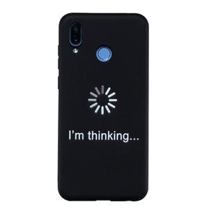 Coque Fundas Couverture Pour Huawei Honor Play Case Noir Soft TPU Mat Simple coups de personnalité Cas de Téléphone Mobile