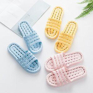 Men Home Non-slip Bathroom Shower Slippers women Couples Indoor Flip Flops Dusche Summer Beach Shoes Badeschuhe
