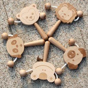 envío libre de haya de alta calidad Rattle 1-2 años 6-12 meses juego del cerebro del bebé niño y niña 15.8 * 8 * 1,5 cm, juguete puede morder Rattle
