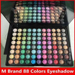 M Marca maquillaje mate de la sombra de ojos de 88 colores con un espejo y 2 cepillos libres del envío