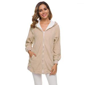 Estilos largos abrigos de invierno de la moda del tamaño extra grande Ropa de diseño para mujer 5XL Fuzzy Casual chaqueta caliente