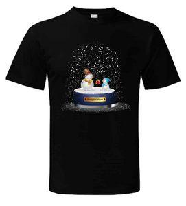 Snow Globe T-shirt Presente Regalo Navidad Novedad Lindo Muñeco de nieve Papá Navidad