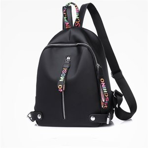 Pequeña mochila de diseño para las mujeres de chicas grandes mochilas de lona con capacidad Negro Blanco Rosa 3 colores de alta calidad Mochila envío de la gota