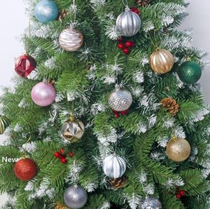 6color Christmas Ball Xmas Tree Colorful Decorations Ornament Pendant Electroplating Balls Gift For Home Party Decorations new GGA2853