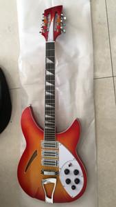 Yeni Ric 340 12 dizeleri Gitar kiraz modeli Tost Yarı Akustik vücudu patlama 330 340 Guitar 24 perdelerin Üçgen Klavye