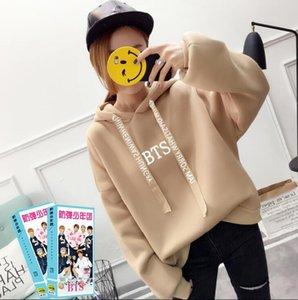 2019 Bts Hoodies Women Sweatshirts Print With Hood Oversized Hoodies Bts Pullover Sweatshirt New Kpop Ladies Hoodies Plus Size