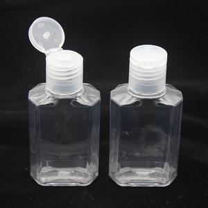 60мл Пустой дезинфицирующее средство для рук Гель для рук бутылки жидкого мыла бутылки Clear выдавливается Pet Sub Travel Bottle