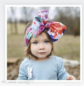 Big Bow Baby Headbands Elastic Headband Head Accesorios para el cabello para niñas Head Wraps Para Girls Top Knot Turban Headband Bow