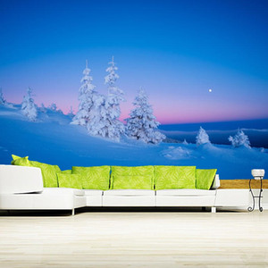Morning winter landscape natural 3d wallpaper papel de parede,living room tv sofa wall bedroom wall papers home decor mural