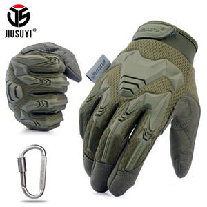 Tactical Military Gloves Army Paintball Shooting Airsoft Combat Bicycle Rubber Protective Anti-Skid Full Finger Glove Men Women SH190921
