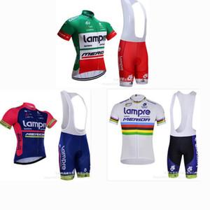 Новый Lampre с коротким рукавом Bib задействуя Джерси костюм Велосипед Влага-впитывающий Открытый спортивный костюм для мужчин и женщин