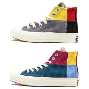2020 Convas Bahar Dikiş Renkleri Günlük Ayakkabılar Yüksek Moda platformu Tuval Spor Ayakkabı Erkek Ayakkabı Erkekler Kadınlar Boş Sneaker ile Kutusu