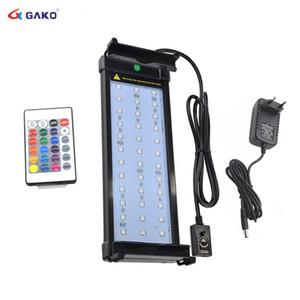 Аквариум светодиодное освещение RGB светодиодная лампа с регулируемой яркостью изменение цвета дистанционного управления 6 Вт подходит для 30~50см аквариум