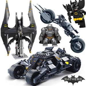 Comaptible Legoing Batman Tumbler Filme Figuren Batpod Batmobile gesetzte Bausteine Kinder Spielzeug Technic Bricks