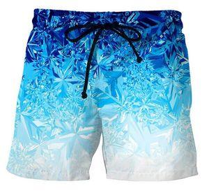Hombre del diseñador de moda de verano pantalones cortos de hielo cubo 3D impresos con cordón cortocircuitos Relajado unisex Homme lujo pantalón DK06