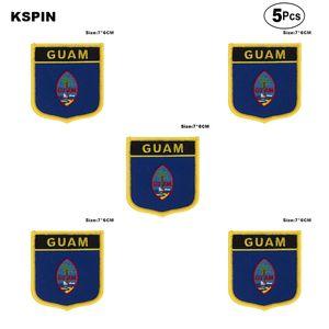Guam Flag Aufnäher Eisen auf Saw on Transfer patches Nähen Anwendungen für Bekleidung in HomeGarden