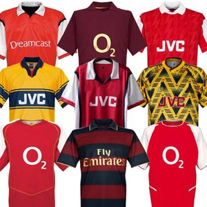 HIGHBURY ACCUEIL DE FOOTBALL T-SHIRT JERSEY FOOTBALL PIRES HENRY REYES 2002 04 Retro JERSEY 2005 06 98 99 94 95 BERGKAMP ADAMS à manches longues 96 97 Galla