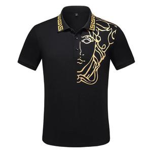 2020 yeni yaz marka tasarımcı polo gömlek lüks tişört moda yılan arı çiçek baskı polo kaliteli rahat pamuk Polo tişört