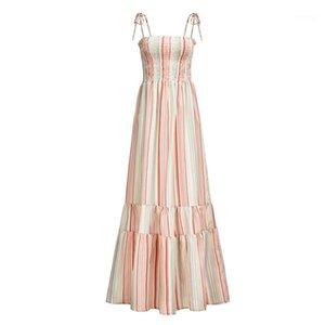 На отпуск Стили WOMENS Дизайнерские Цветочные платья Спагетти ремень отдыха BOHO Стили пояса высокой талией макси летние платья женщин лета