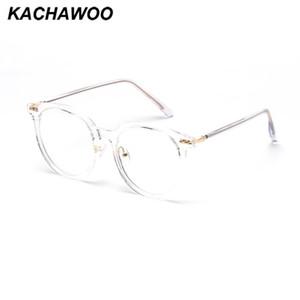 Kachawoo schermata blu occhiali grandi mens trasparenti gli occhiali tondi montatura da vista donna TR90 rivetto stile retrò