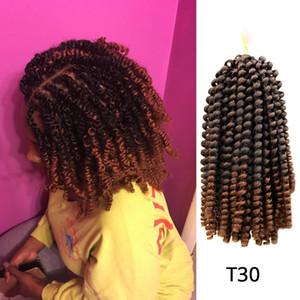 Chaud! 8 pouces 5Packs pleine tête printemps Twist cheveux Bombe Twist Passion Hair Braiding Ombre Color Crochet Tresses Spring Twist Hair Extensions