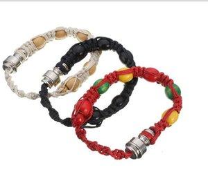 wholesale Handmade portable vaporizer stash bracelet pipe knit stash storage click n vape bracelet smoking pipe