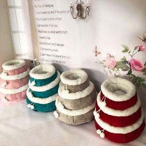 2019 Kawaii Cotton Plush Dog Mats Casa Kennel All Seasons Bed cães com bolas de sujeira resistente macia Bed Almofada lavável Camas dezembro