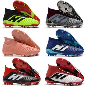 Crampons de football Messi orange-brun Predator 18+ FG Chaussures de soccer pour enfants Bottes de soccer pour femmes Enfants ACE 18.1 Chaussures de football