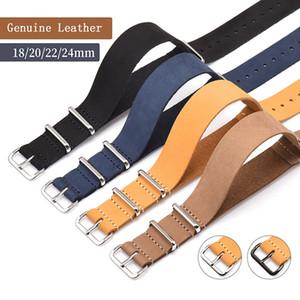 Ver Banda ocasional de la correa de la vendimia del estilo Pin abrochadas de los relojes de pulsera de cuero accesorios de repuesto de 18mm, 20mm, 22mm, 24mm