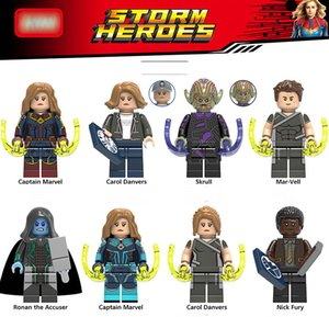 Capitán Marvel Avengers Figuras Superhéroes Carol Danvers Skrull Mar-Vell Modelo Building Block juguetes para niños Ladrillos Juguetes para bebés 2019 Para lego