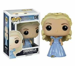 Bonito 2019 Marca nova tendência Funko Ação pop figuras filme Cinderella Cinderella princesa 138 boneca de brinquedo boneca Mão