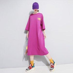 Костюм-платье Street Wind Letter Printing Комфортное легкое платье T Pity Woman 420