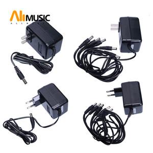 Источник питания переменного тока для педали Biyang гитары 110V / 240 US / EU Plug адаптер питания постоянного тока 9В 1 Way или 5 Way Out