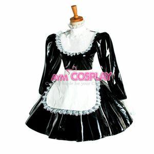 PVC sissy maid dress lockable cross dressers Tailor-made
