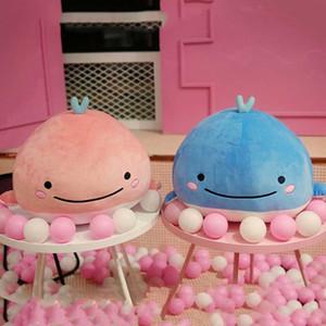 Lindo Abajo ballena de algodón de peluche de juguete súper suave delfín almohada juguetes rellenos de alta calidad criaturas acuáticas regalo de cumpleaños