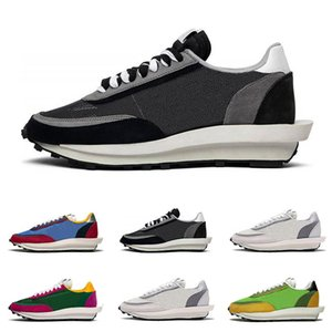 2019 LDV Waffle Mens Running Shoes Mulheres Black White Grey verde pinheiro Gusto Varsity Blues Homens Formadores Moda Sneakers Desporto