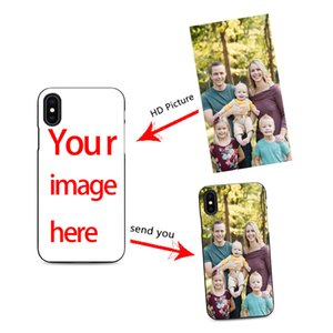 Diy caso de telefone celular personalizado projetar seu próprio para iPhone X XR 6 7 8 plus 6s criar caso de telefone com fotos melhor capa preta