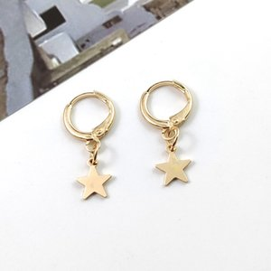 2019 New Fashion Moon Star Studs Earrings Best Selling Gold Sliver Color Earrings Jewelry Wholesale For Female Jewelry
