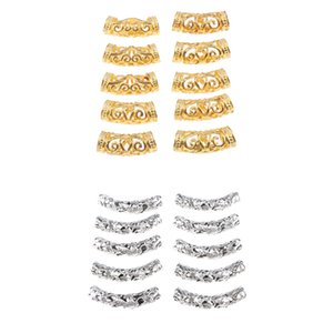 Set of 20 Hair Extension Wigs Decoration Tubes Dreadlocks Metal Plated Beads Cuffs 0.8cm