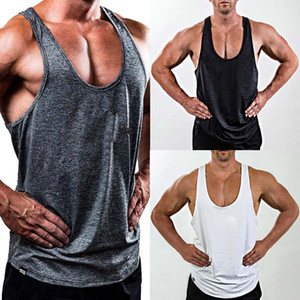 Men Gym Singlet Training Bodybuilding Tank Top Vest Sleeveless Fitness Shirt