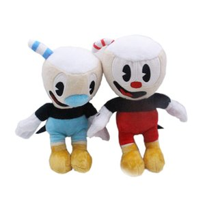 25cm Game Cuphead Plush Toy Mugman Plush Dolls Toys for Children