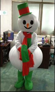 Costume personalizzato Frosty Snowman Mascot Costume Cartoon Elf carattere mascotte vestiti di Natale Halloween Party Fancy Dress
