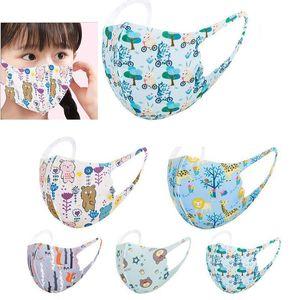 Мода Дети Маска для лица Детская Аниме Печатные Маски моющиеся детские Защитные дышащий Spring Summer Party Masks Праздничный GIF
