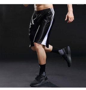 Esecuzione elastico in vita Pantaloni corti Casual Cool lunghezza del ginocchio tasca dei pantaloncini estivo a righe rivestite pantaloni da uomo di sport
